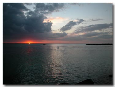 sunset at Blind Pass, St. Pete Beach