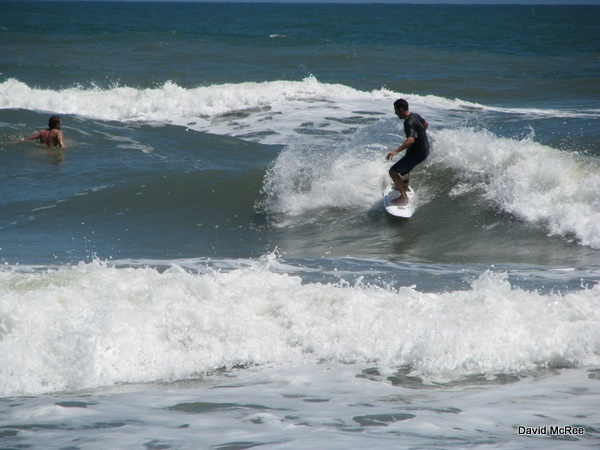 Surfing at Playalinda Beach