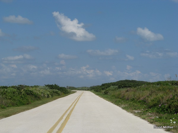 Playalinda Beach access road