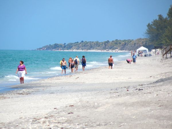 Looking north on Manasota Key Beach.