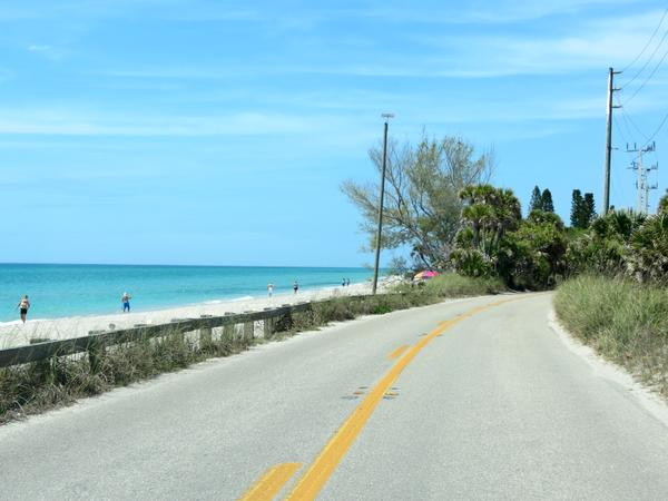 Scenic overlook on Manasota Key Road.