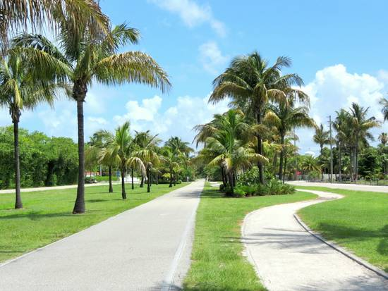 Bicycle and golf cart paths on Gasparilla Island, Florida.