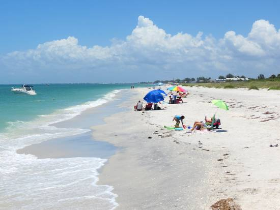 Seawall Beach on Gasparilla Island, Florida.