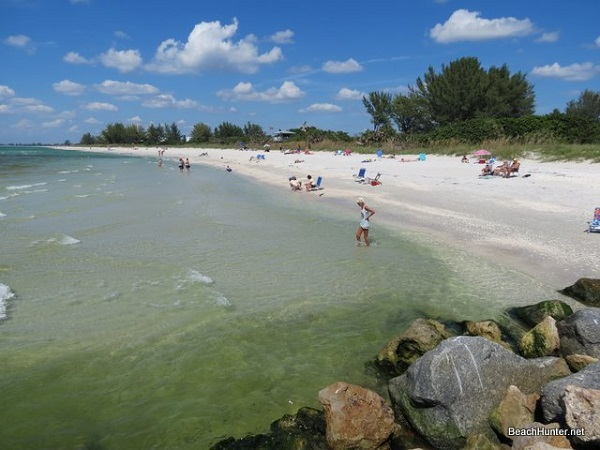 Clear water on Casey Key beach at Jetty Park.