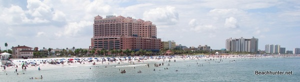 Clearwater Beach, Florida as seen from Pier 60