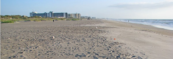 Scene on Cocoa Beach, Florida