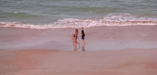 People Walking On Daytona Beach Florida