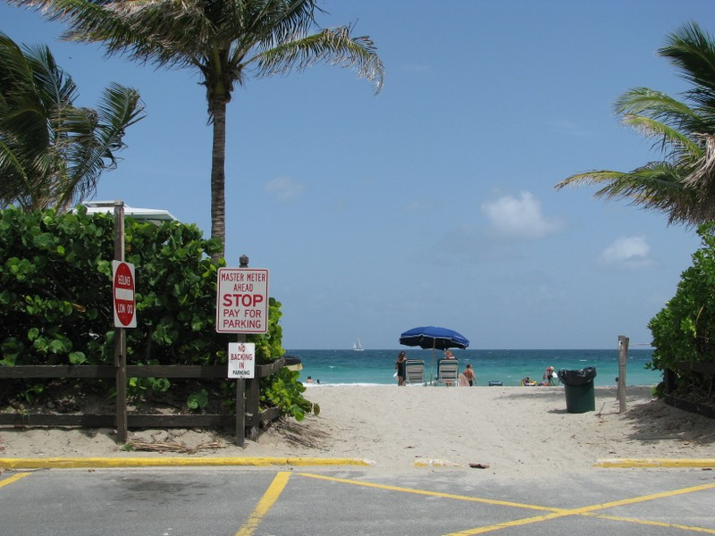 Beach access at Dania Beach.