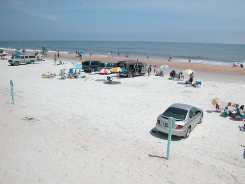 parking cars on Daytona Beach