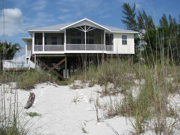 Beach house for rent on Don Pedro Island. Islander Properties.