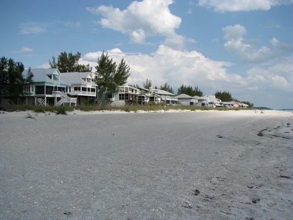 Don Pedro Island Gulf front beach houses.
