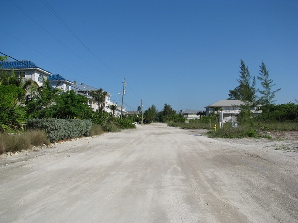 Typical shell road on Don Pedro Island.