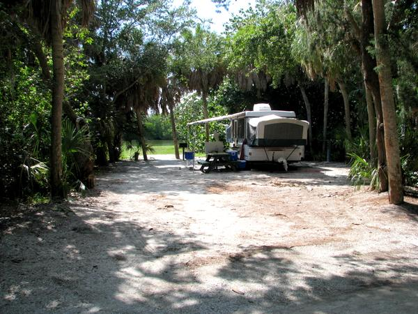 Camping at Fort Desoto Park's campground.