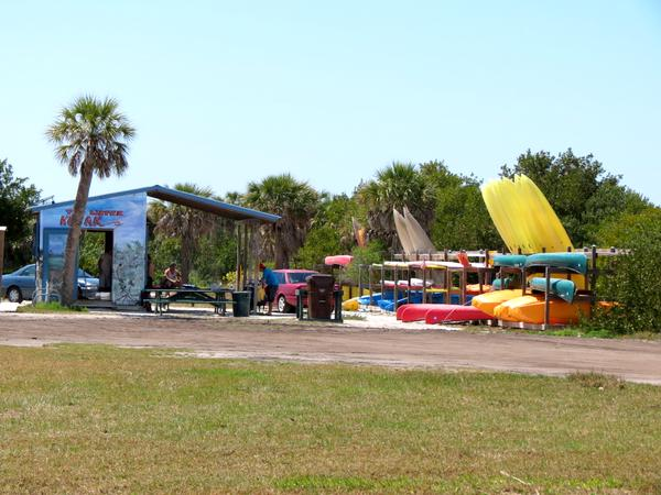 Kayak rentals at Fort Desoto Park.