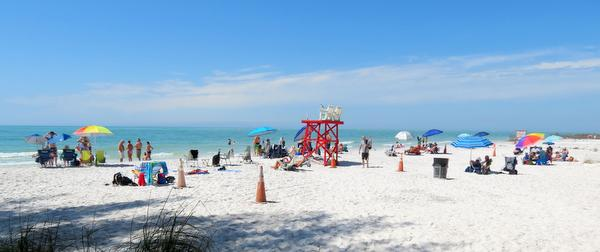 Swim area at Fort Desoto's North Beach.