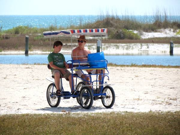 Rental bicycle at Fort Desoto Park.