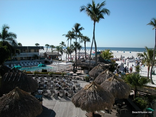 View from my room at the Outrigger Beach Resort, Fort Myers Beach, Florida