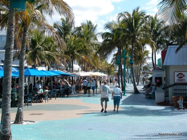 Times Square area of Fort Myers Beach, near the Pelican Pier