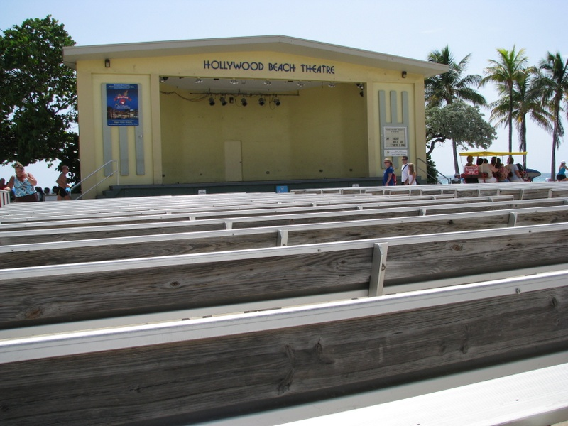 The Hollywood Beach Theatre is right on the beach.