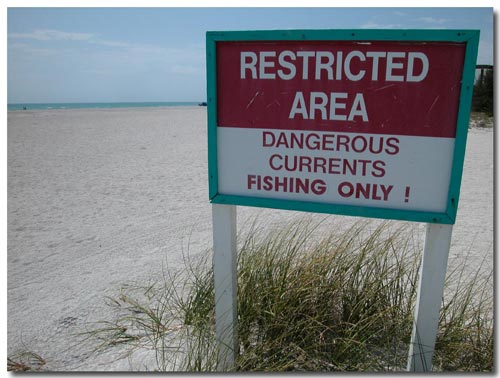Avoid swimming at South Lido Park in Sarasota, FL.