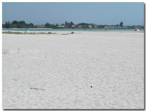 Huge beach at South Lido Park, Sarasota, FL.