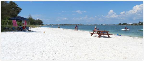 South Lido Beach on Big Pass. Sarasota, FL.