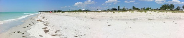 Little Gasparilla Island beach. Florida.