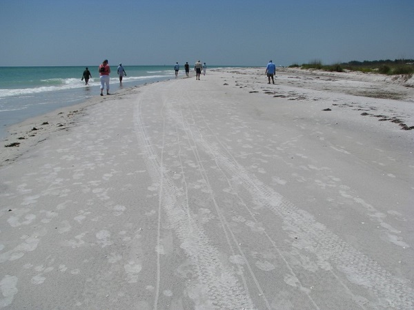 Little Gasparilla Island Beach, Florida.