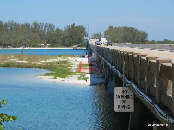 Longboat Key bridge to Anna Maria Island, Florida.