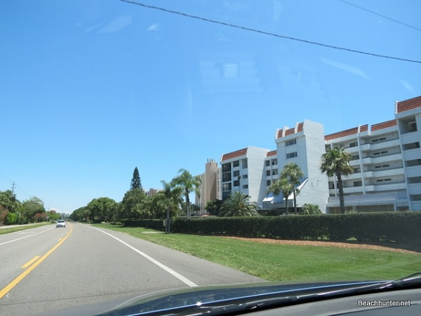 Driving on Longboat Key, Florida.