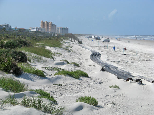 Newly renourished beaches at New Smyrna.