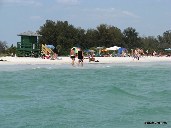People enjoying Siesta Key Public Beach, Florida.