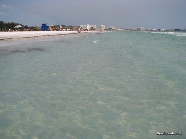 Clear calm Gulf waters on Siesta Key, Florida.