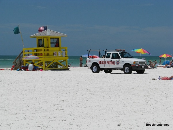Lifeguards on Siesta Key Public Beach.