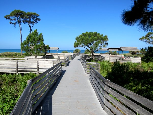 Service Club Park boardwalk.