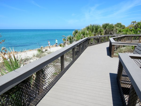 Boardwalk along Caspersen Beach, Venice, Florida.