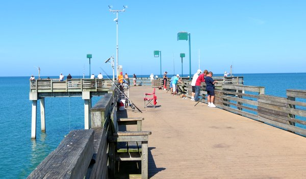 On the Venice Fishing Pier, Florida.