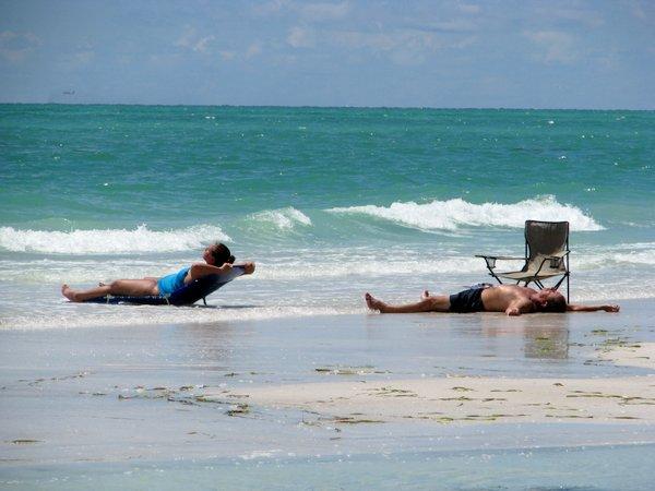 Relaxing On Anna Maria Beach Florida