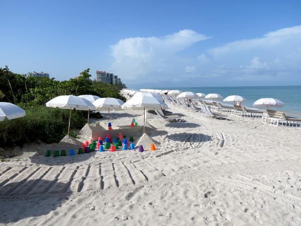 Clam P County Park Beach Umbrellas Naples Florida