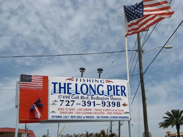 Florida Go Fishing On The Redington Long Pier Ss Beach