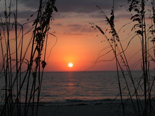 November Sunset Beach Treasure Island