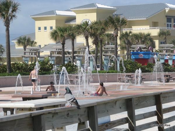 Splash Fountain At Sunsplash Park Daytona Beach Fl